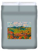 Rocky Knob In Fall Duvet Cover