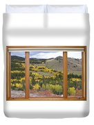 Rocky Mountain Autumn Picture Window View Duvet Cover