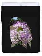 Rocky Mountain Bee Flower Duvet Cover