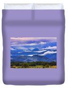 Rocky Mountain Cloud Layers Duvet Cover