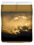 Rocky Mountain Continental Divide Sunset Duvet Cover