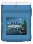 Rocky Mountain Fullmoon Duvet Cover