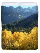 Rocky Mountain High Colorado - Landscape Photo Art Duvet Cover