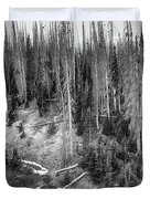 Rocky Mountain High Elevation Forest Large Panorama Duvet Cover
