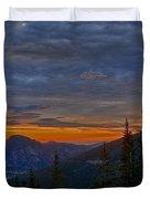 Rocky Mountain High Sunrise Duvet Cover