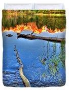 Rocky Mountain Lake Duvet Cover
