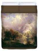 Rocky  Mountain  Landscape Duvet Cover