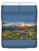 Rocky Mountain National Park Summer Sunflowers Pano 1 Duvet Cover