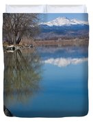 Rocky Mountain Reflections Duvet Cover