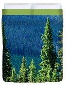 Rocky Mountain Skyline Duvet Cover