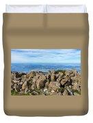 Rocky Mountain Summit Overlooking Beautiful Vally Duvet Cover