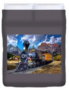 Rocky Mountain Train Duvet Cover