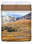Rocky Mountain Tundra And Lake Duvet Cover