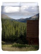 Rocky Mountain Water Tower Duvet Cover