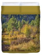 Rocky Mountains Autumn Duvet Cover