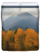 Rocky Mountains Colorado Autumn  Duvet Cover