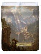 Rocky Mountains, Lander's Peak Duvet Cover