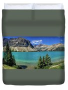 Rocky Mountains Panorama Duvet Cover