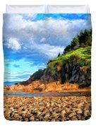 Rocky Oregon Beach Duvet Cover