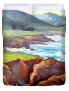 Rocky Point Afternoon Big Sur Duvet Cover