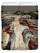 Rocky Pools - Wreck Island Duvet Cover