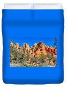 Rocky Range At Red Canyon Duvet Cover