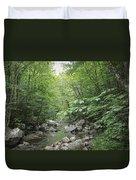 Rocky River In Green Duvet Cover