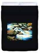 Rocky River Run Duvet Cover