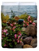 Rocky Shores Of Lake St. Clair- Michigan Duvet Cover