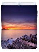 Rocky Sunrise Duvet Cover