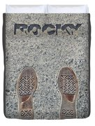 Rocky Was Here Duvet Cover