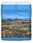 Rocky Washington Coast Of The Pacific Duvet Cover