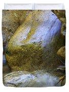 Rocky Water Closeup 2 Duvet Cover