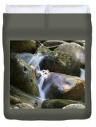Rocky Water Closeup Duvet Cover