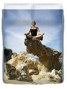 Rocky Yoga Duvet Cover