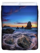 Rodeo Beach Sunset Duvet Cover