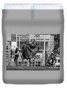 Rodeo Bull Riding 1 Duvet Cover