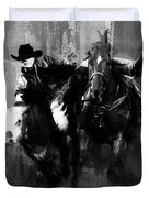 Rodeo In Black Duvet Cover