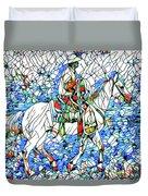 Rodeo Wrangler Mosaic Duvet Cover