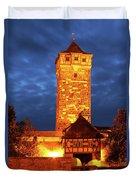 Rodertor At Twilight In Rothenburg Duvet Cover