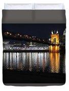 Roebling Bridge Duvet Cover