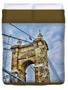 Roebling Suspension Bridge Duvet Cover