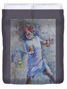 Roger Federer - Portrait 8 Duvet Cover