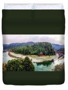 Rogue River Bend Pano Duvet Cover