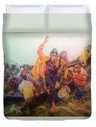 Rohingya Flee Myanmar Duvet Cover