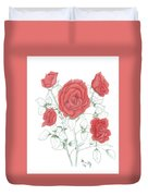 Rojo Cinco Duvet Cover