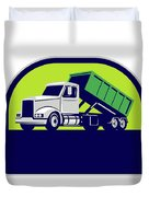 Roll-off Truck Side Up Half Circle Retro Duvet Cover