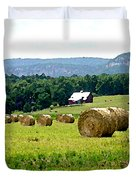 Rolled Bales Duvet Cover