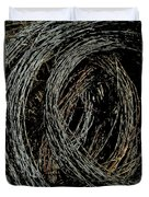 Rolled Barbed Wire-signed-#1936 Duvet Cover