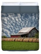 Rolled Up - Hay Rolls And Barn Duvet Cover